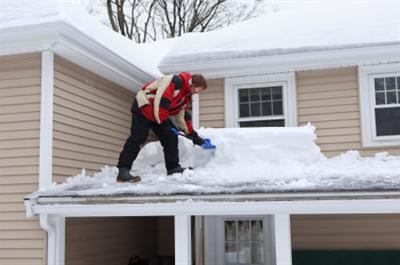Roof shoveling in Raymond NH