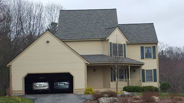 "CertainTeed Landmark Shingles in ""Weathered Wood"", Acton, MA (1)"