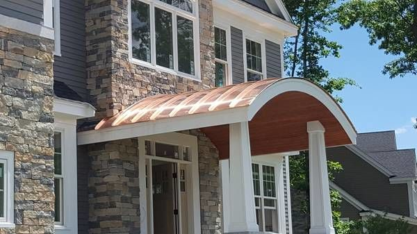 "R.J. Talbot Roofing and Contracting, Custom Copper ""Barrel"" Roofing in Westford, MA (1)"